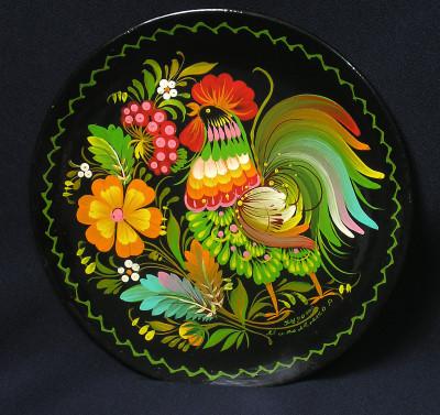 Тарілка петриківка традиційна